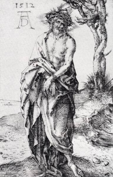 Durer Man Of Sorrows With Hands Bound
